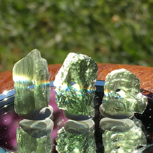 3 Moldavite Beads for Jewelry Making-Moldavite Life