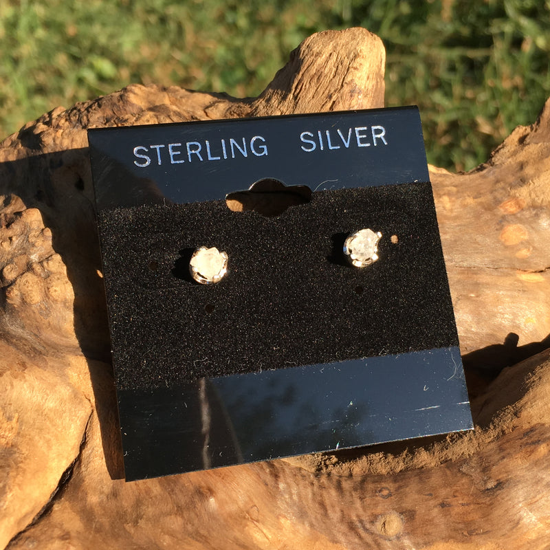 Natural Phenacite Crystal Earrings Sterling Silver Rare