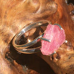 Pink Ruby Ring Sterling Silver Natural Crystal-Moldavite Life