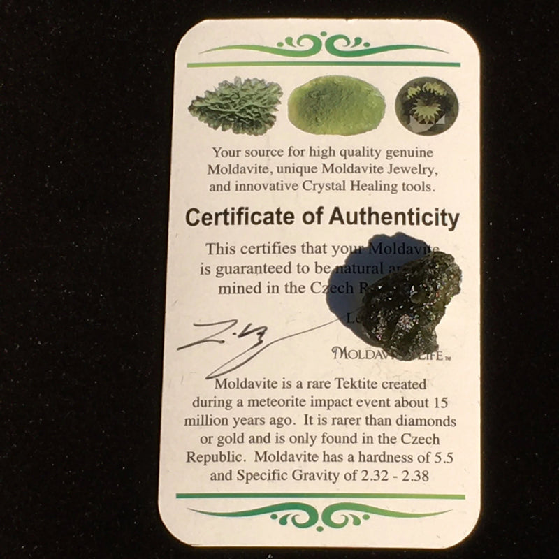 Moldavite Bead for Jewelry Making 1.8 Grams-Moldavite Life