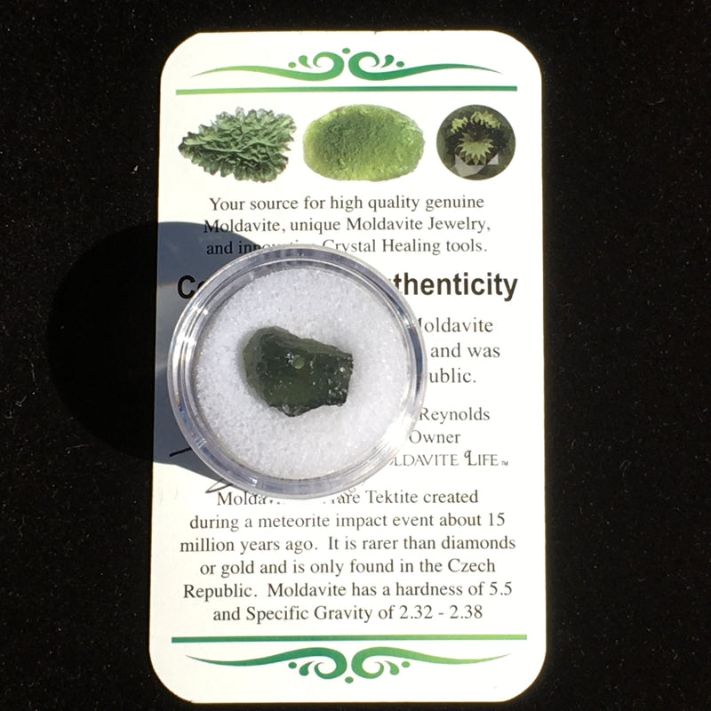 Moldavite BEAD for Jewelry Making 0.9 Grams-Moldavite Life