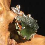 Moldavite Pendant Sterling Silver Certified Genuine Natural Raw