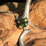 Custom Faceted Moldavite Pendant Sterling Silver 4mm Gem-Moldavite Life