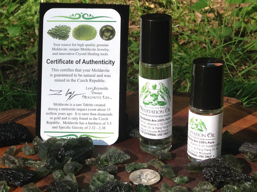 Genuine Moldavite Oil [ #1 BESTSELLER ] 100% Pure Essential Oils-Moldavite Life