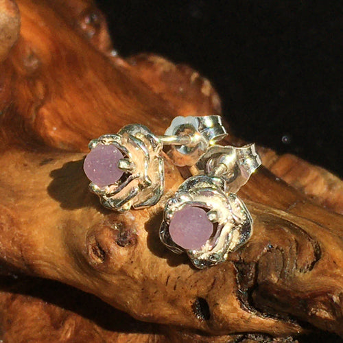 Grape Agate Rose Earrings Sterling Silver-Moldavite Life