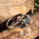 Men's Rare Brookite Crystal Sterling Silver Ring Size 9-Moldavite Life