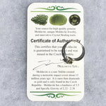 Moldavite Ring Sterling Silver Faceted 5mm Gem-Moldavite Life