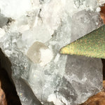 Phenacite Crystals in Matrix 11-Moldavite Life