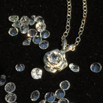 Phenacite Rose Faceted Crystal Pendant Silver Necklace-Moldavite Life