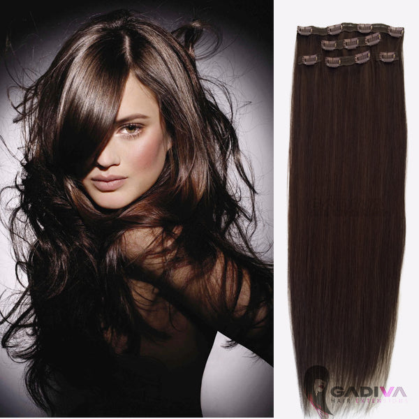 CLIP IN #1B/2- clip in hair extensions