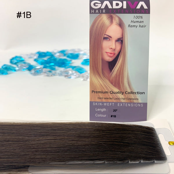 Skin-Weft TAPE EXTENSIONS ( #1B )