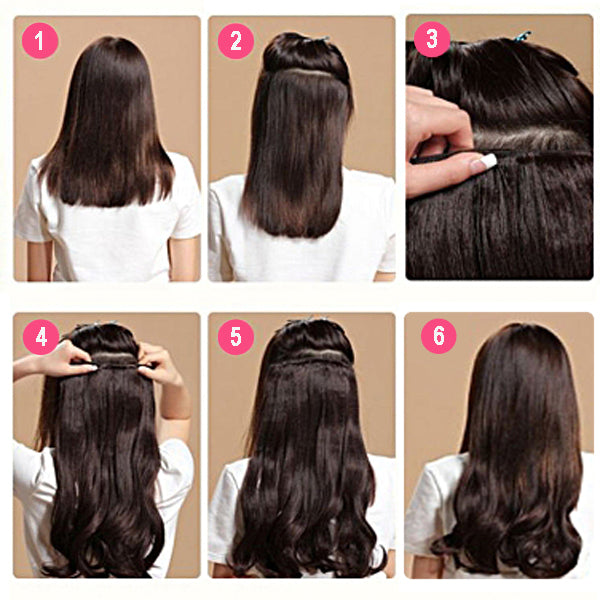 CLIP IN #T7B-22-Clip in hair extensions - GadivaHairExtensions
