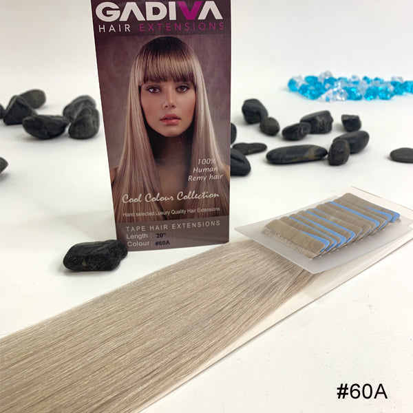 TAPE COOL Colour EXTENSIONS ( #60A ) - tape extensions hair