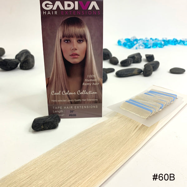 TAPE COOL Colour EXTENSIONS ( #60B ) - tape extensions hair