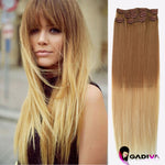 CLIP IN #T7B-22-Clip in hair extensions