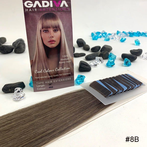 TAPE COOL Colour EXTENSIONS ( #8A ) - tape extensions hair
