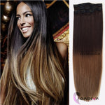 CLIP IN BALAYAGE# 1B-8-Clip in hair extensions