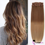 CLIP IN BALAYAGE #T8-9B-Clip in hair extensions