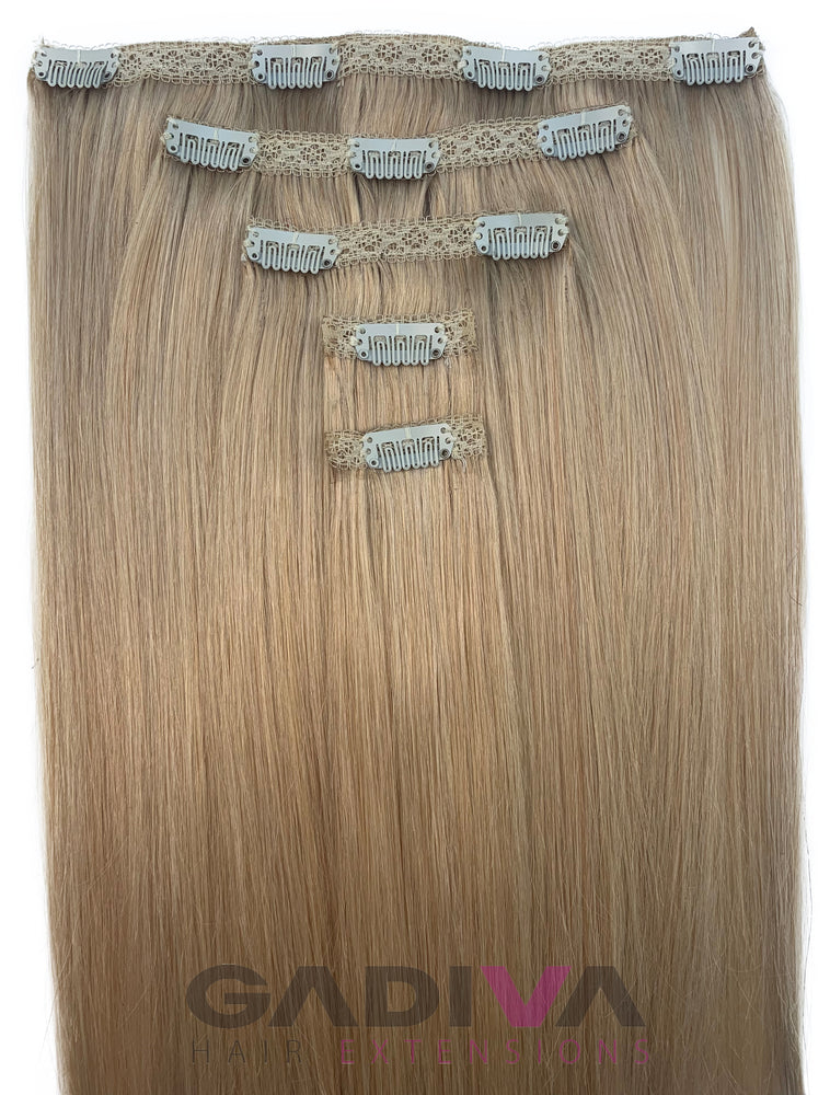 CLIP IN BALAYAGE #4-7B-Clip in hair extensions - GadivaHairExtensions