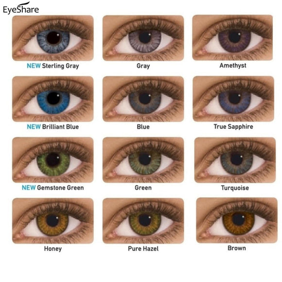 Lentilles de contact souples BELLE ELEVE - 12 Couleurs - Beauty's Secrets