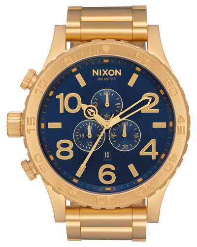 51-30 Chrono Watch Gold/ Blue Sun ray