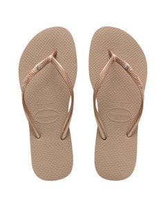 Havaianas Slim Crystal SW Rose Gold