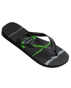Havaianas Tropical Glitch Black/Neon Green