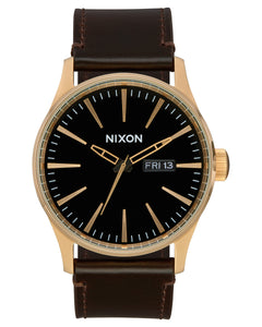 Sentry Leather Watch Gold/ Brown