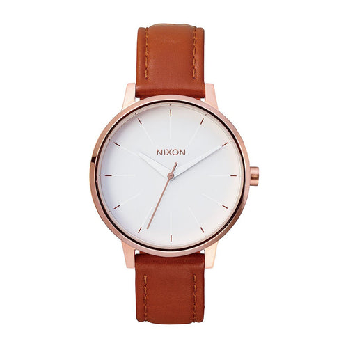 Kensington Leather Watch Rose Gold/ White