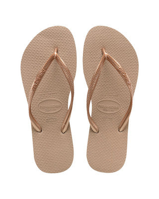 Havaianas Slim Metallic Gold Thongs