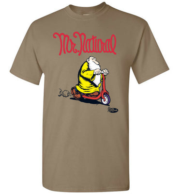 Mr. Natural Scootin' - Men's Short Sleeve T-Shirt
