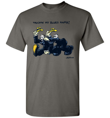 Truckin' My Blues Away - Men's Short Sleeve T-Shirt