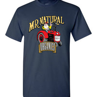 Mr. Natural Organics Tractor Logo - Men's Short Sleeve T-Shirt