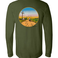 Delta Blues Country - Double Print - Men's Long Sleeve T-Shirt