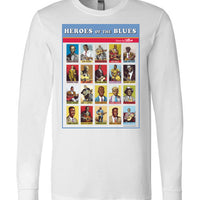 Heroes of the Blues Poster - Men's Long Sleeve T-Shirt