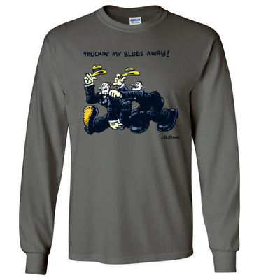 Truckin' My Blues Away - Men's Long Sleeve T-Shirt