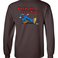 Keep On Truckin' - Double Print - Men's Long Sleeve T-shirt
