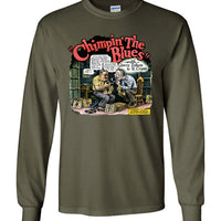Chimpin' the Blues - Men's Long Sleeve T-Shirt