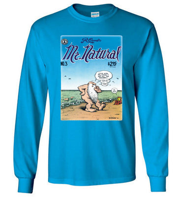 Mr. Natural Comic Book Cover No. 3 - Men's Long Sleeve T-Shirt