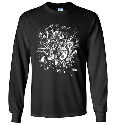 Mutate Now in White - Men's Long Sleeve T-Shirt