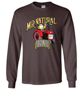 Mr. Natural Organics Tractor Logo - Men's Long Sleeve T-Shirt