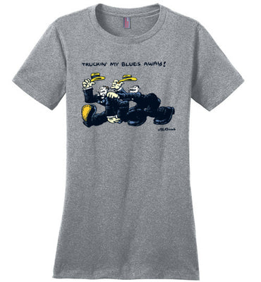 Truckin My Blues Away - Women's T-Shirt
