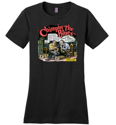 Chimpin' the Blues - Women's T-Shirt