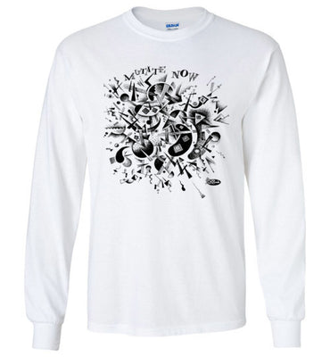 Mutate Now in Black - Men's Long Sleeve T-Shirt