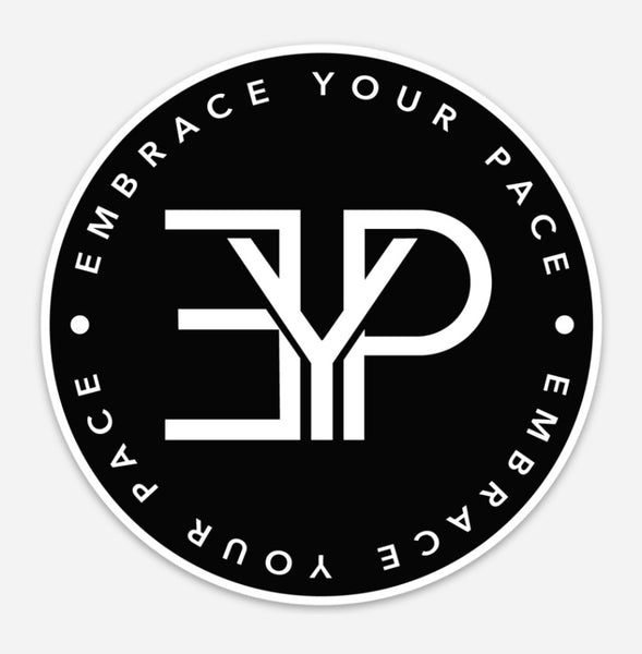 EYP Logo Sticker - Embrace Your Pace