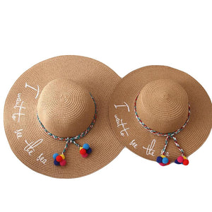 d09b76c3460666 BINGYUANHAOXUAN 2018 New Style Adult Women Girls Fashion Embroidery Sun Hat  UV Protect Big Bow Summer Beach Straw Hat