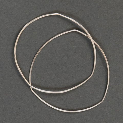 Hammered Bangle - Triangle