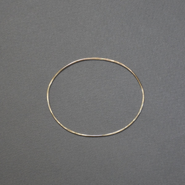 Hammered Bangle - Oval