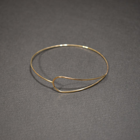Hammered Bangle - Double Bar