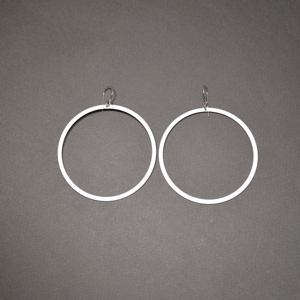 Bangle Earrings - Narrow, Matte White
